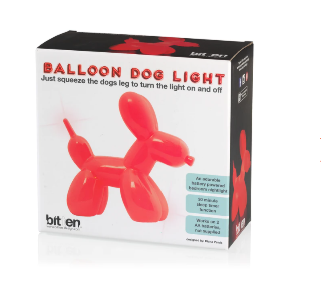 Balloon Dog Light Red