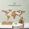 Corkboard Map Pinboard