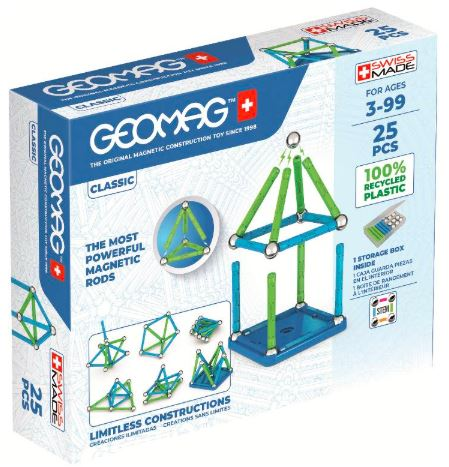 Geomag Classic - 25 pcs - 100% Recycled Plastic