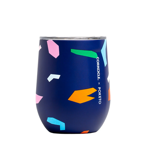 Corkcicle Poketo Stemless 12oz/355ml - Blue Confetti