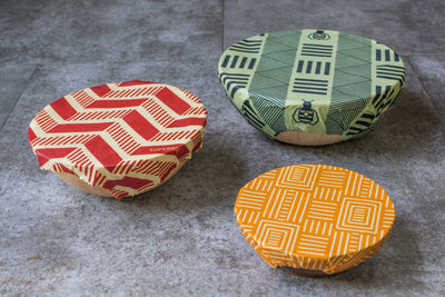 SuperBee Beeswax Wrap Medium Triple Pack - Crossing Bridges