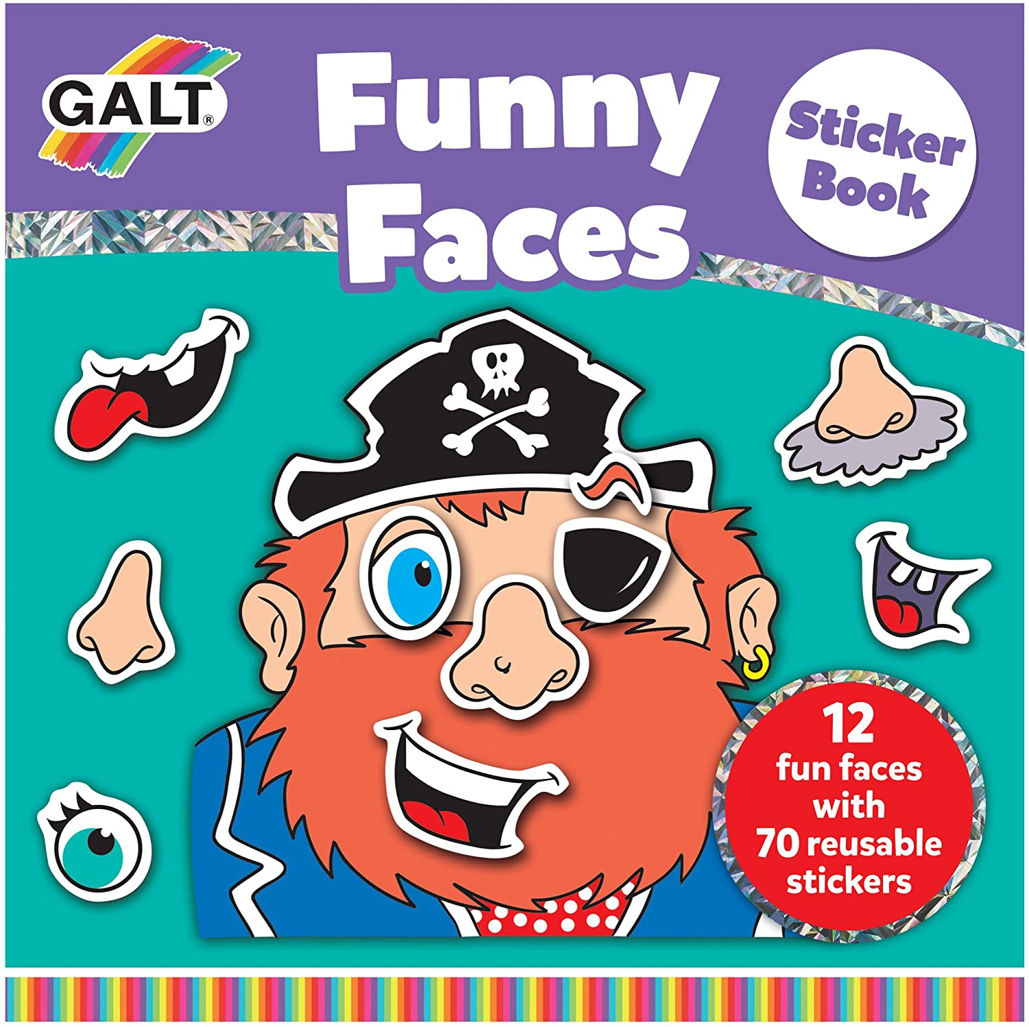 Galt Toys Funny Faces Sticker Book