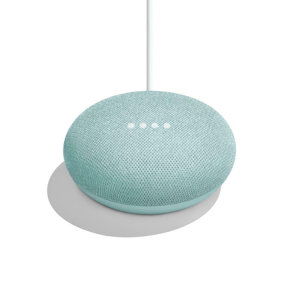 Google Home Mini Smart Speaker - Aqua