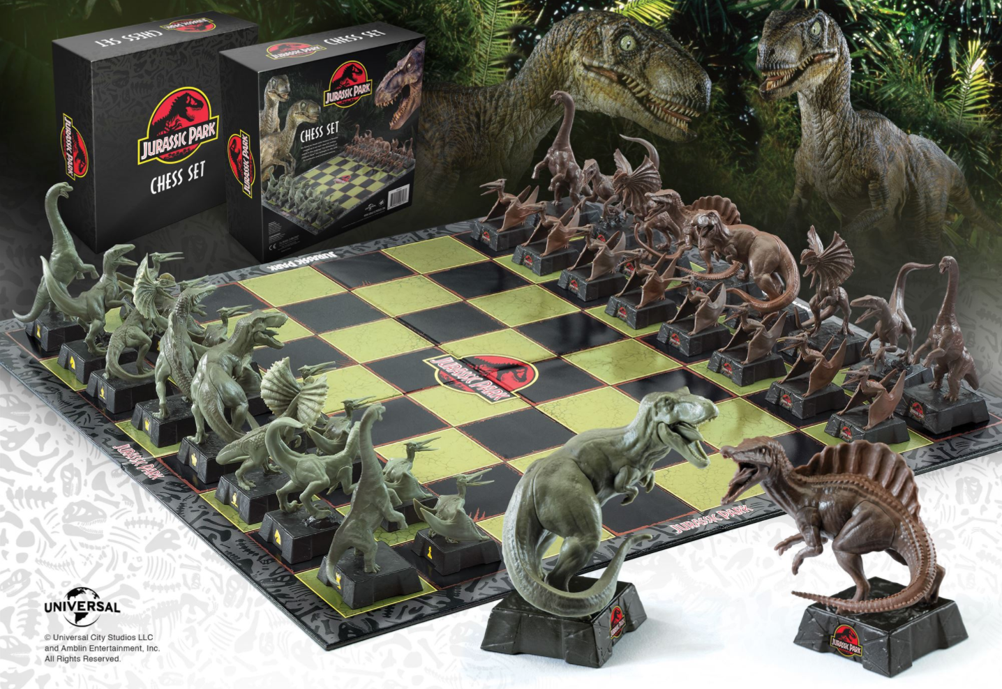 Jurassic Park Chess Set