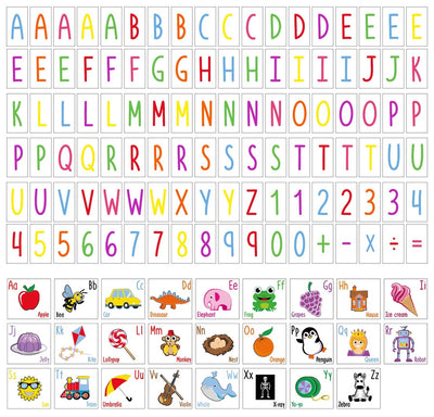 A4 Coloured Letters & Kids Illustrations Letter Pack