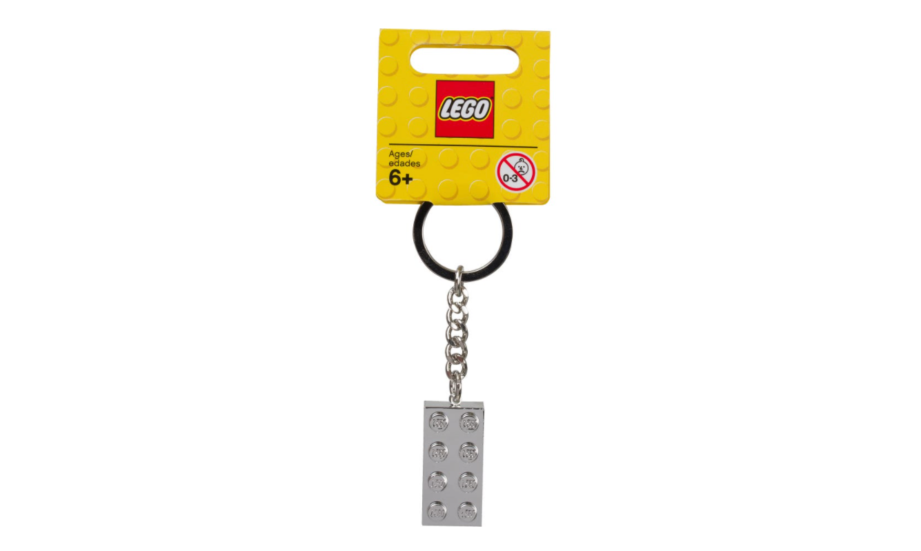 LEGO® Iconic Metalised 2x4 Keyring