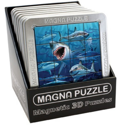3D Magna Puzzle - Sharks