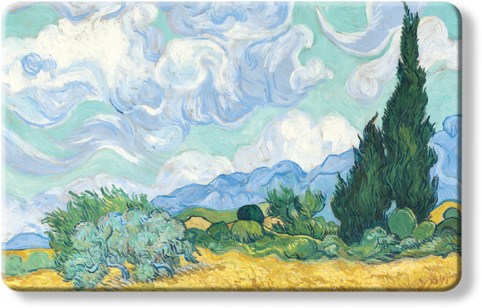 The National Gallery Myne Card - Wheatfield with Cypresses