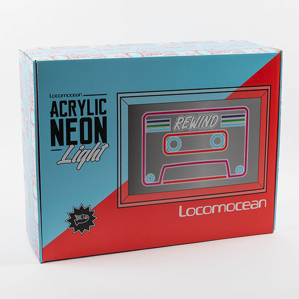 Acrylic Neon Light  - Cassette