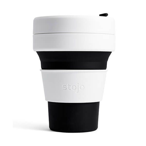 Stojo Black Collapsible Pocket Cup 12oz/355ml