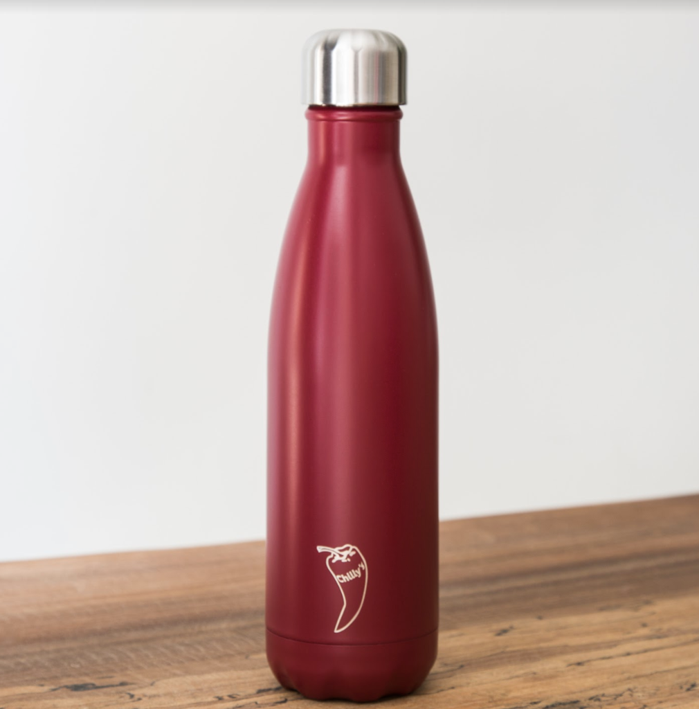 Chilly's Vacuum Insulated Stainless Steel Water Bottle Matte Red 500ml