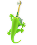 larry the lizard toothbrush holder - green
