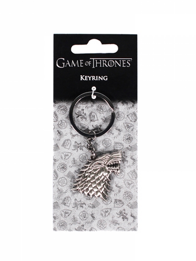 Keyring (Header) - Game of Thrones (Sculpted - Stark)
