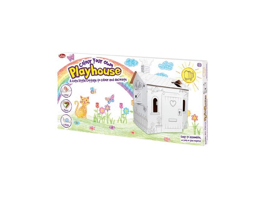 Tobar Colour Your Own Cardboard Playhouse