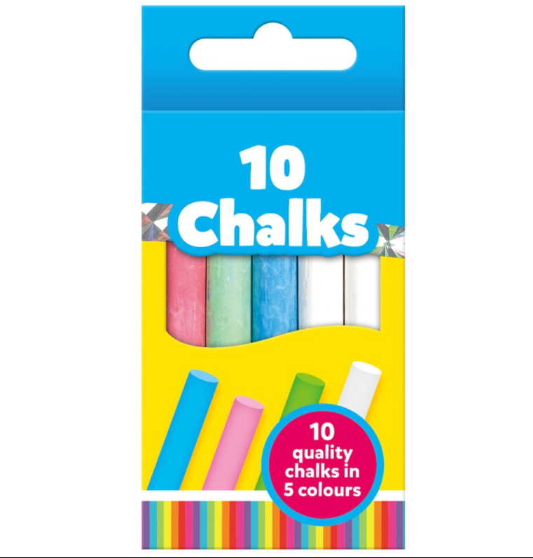 Coloured Chalk (10 Pieces)