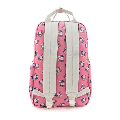 Harley Quinn Bubble Gum AOP Nylon Square Backpack