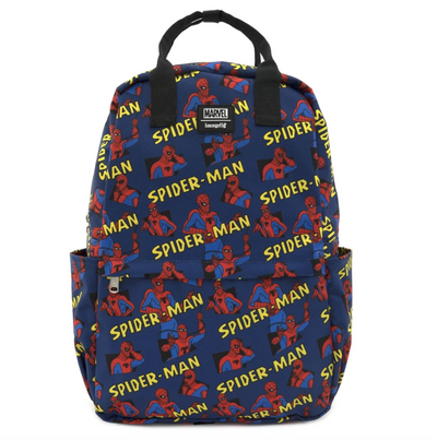 Spiderman AOP Square Nylon Backpack