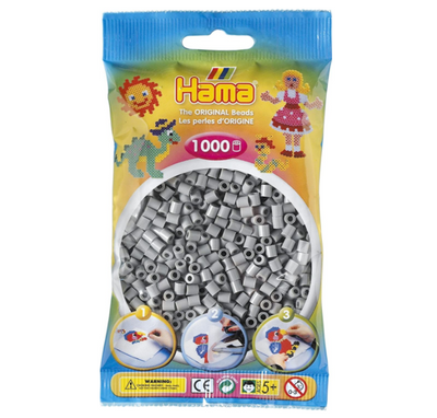 Hama Grey - 1,000 Beads in Bag