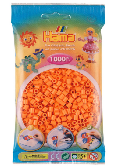 Hama Apricot - 1,000 Beads in Bag