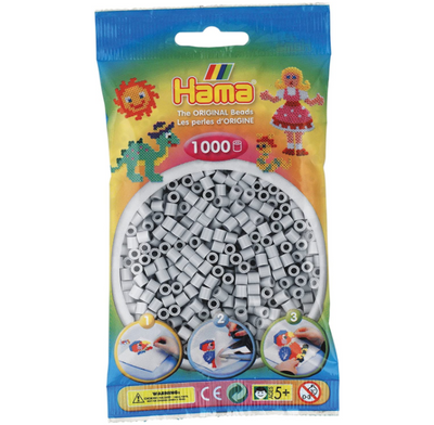 Hama Light Grey - 1000 Beads in Bag