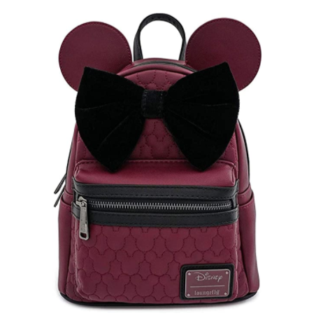 Minnie Mouse Quilted Faux-Leather Mini Backpack with Velvet Bow