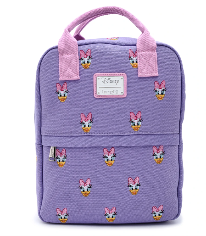 Daisy Duck Embroidered AOP Canvas Backpack
