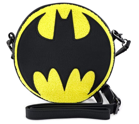 Batman Bat-Signal Chenille Crossbody Bag