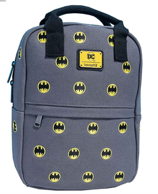 DC Comics Batman Bat-Signal Embroidered Canvas Mini Backpack
