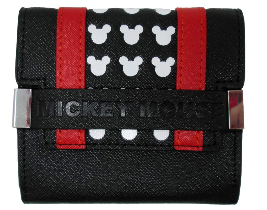 Mickey Mouse: Black & Red Trifold Purse