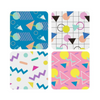 Set of 4 1980s 80s Retro Coasters