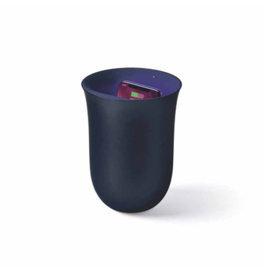 OBLIO Wireless Charging Station + UV Sanitiser - Dark Blue