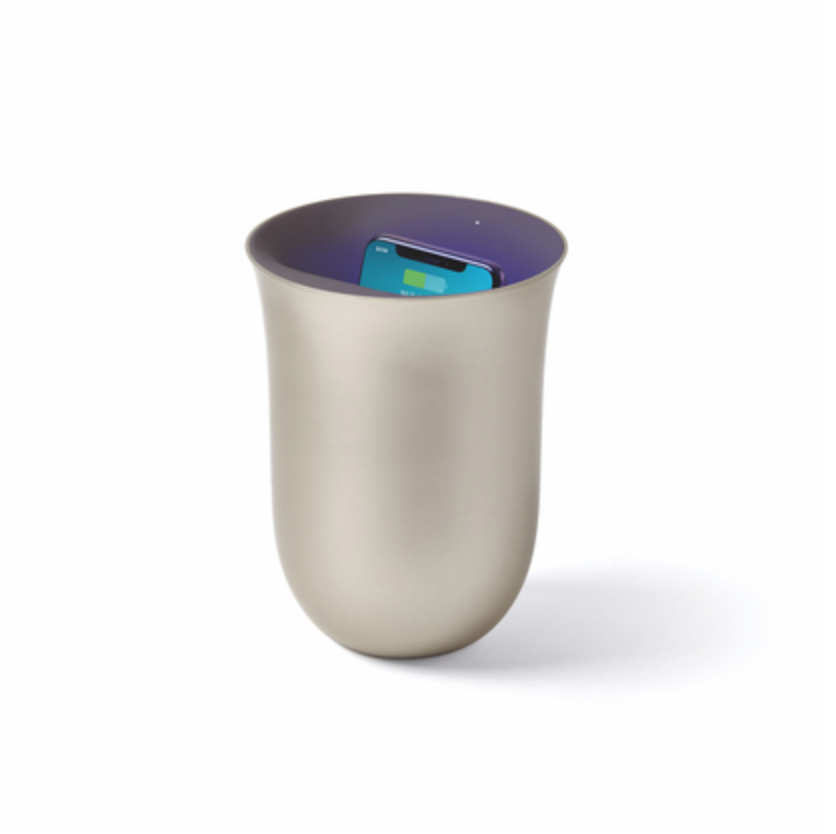 OBLIO Wireless Charging Station + UV Sanitiser - Gold