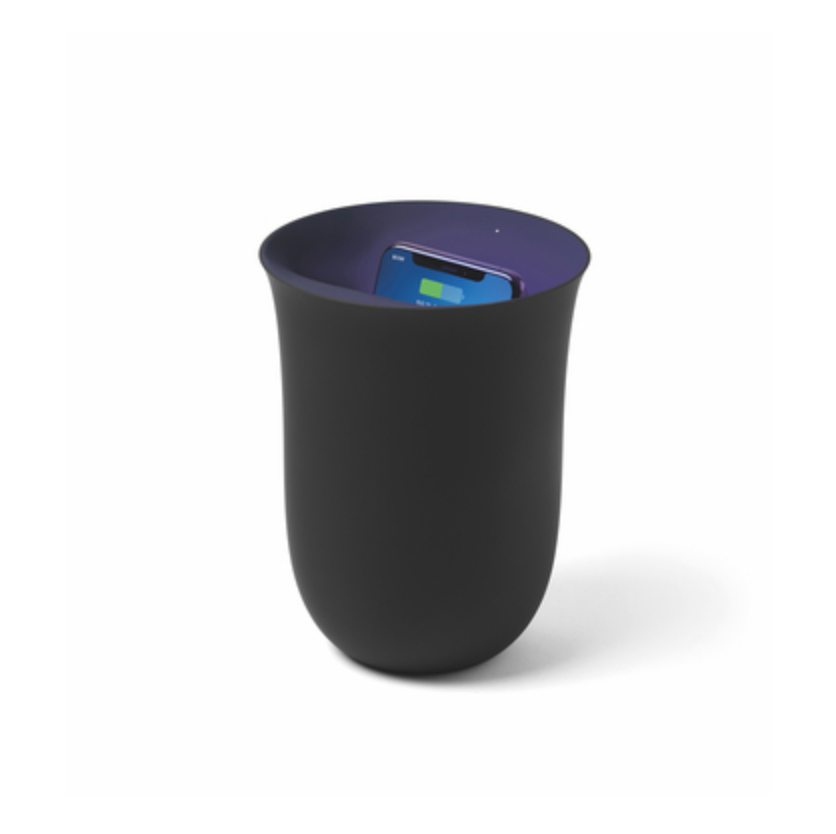 OBLIO Wireless Charging Station + UV Sanitiser - Black