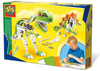 Metal dinosaur construction set