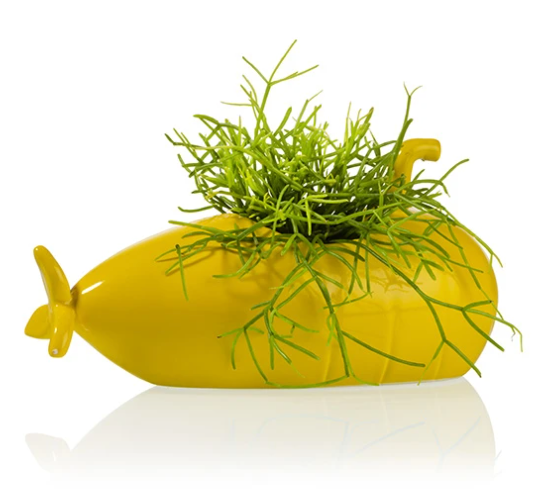 Submarine Planter Medium Yellow