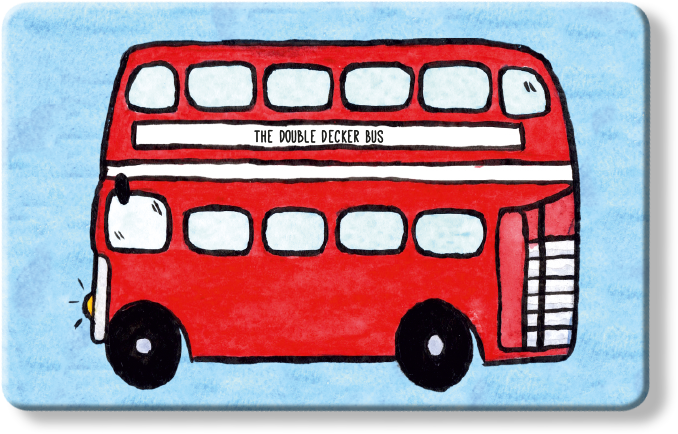 To Home from London Myne Card - The Double Decker