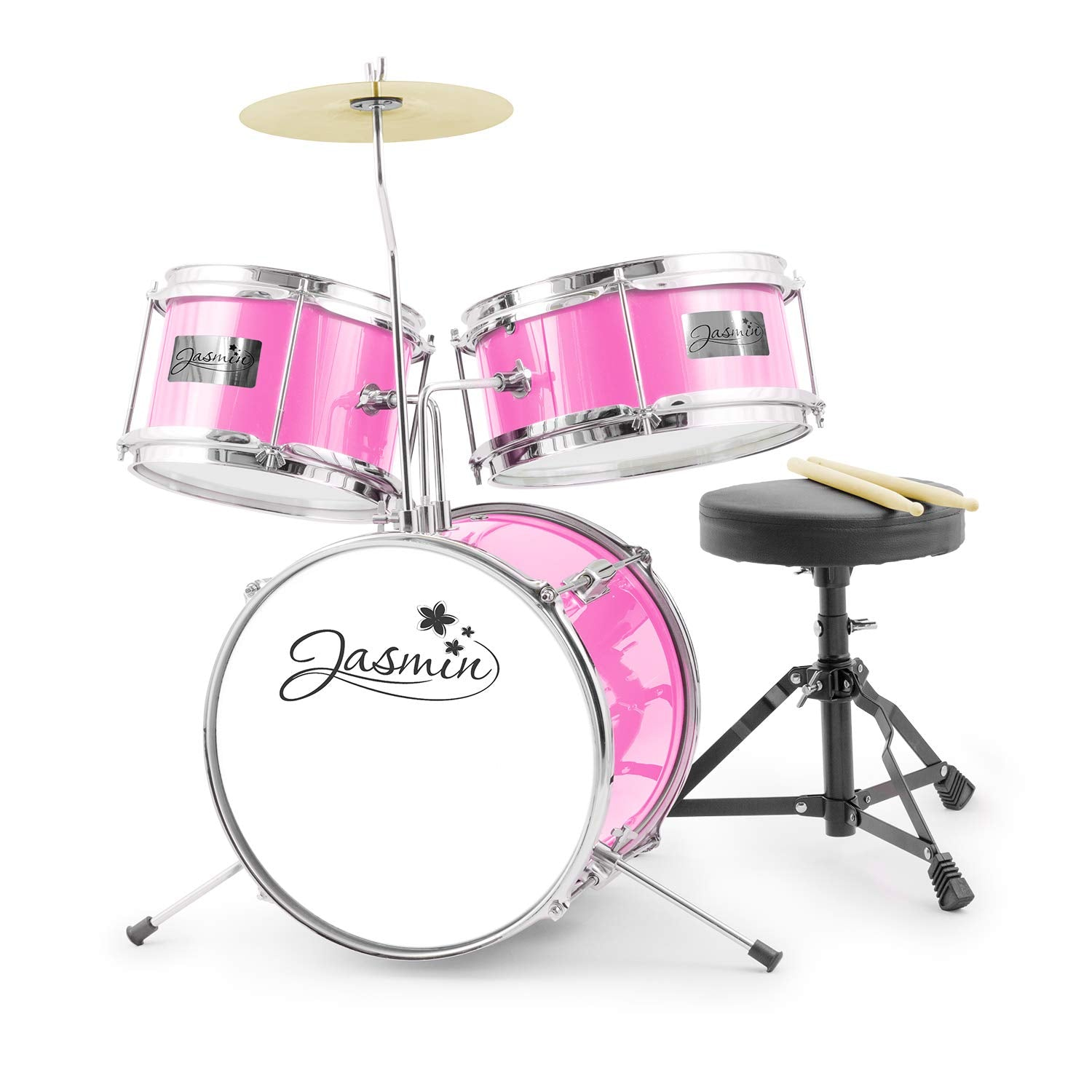 Tiger 3 Piece Junior Drum Kit - Jasmine Pink