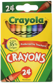 Crayola Crayon wax assorted colours pack of 24