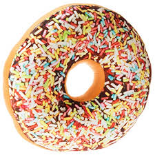 Replicushion Doughnut Sprinkles Cushion - Large 35cm