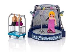 Playmobil Family Fun Singer and Stage with LED Lighting Effects