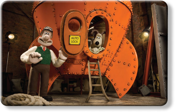 Wallace and Gromit Myne Card - Reach for the Sky