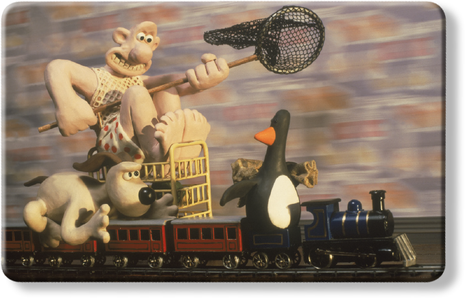 Wallace and Gromit Myne Card - The Wrong Trousers Train Chase