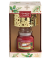 Yankee Candle Magical Christmas Morning Small Jar Candle and Shade Gift Set