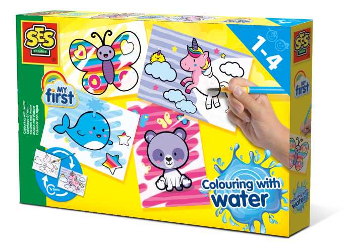 Colouring with water - Fantasy animals