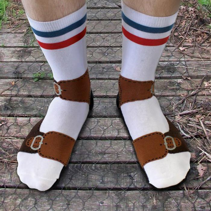 Ginger Fox Novelty Sandal Socks - One Size