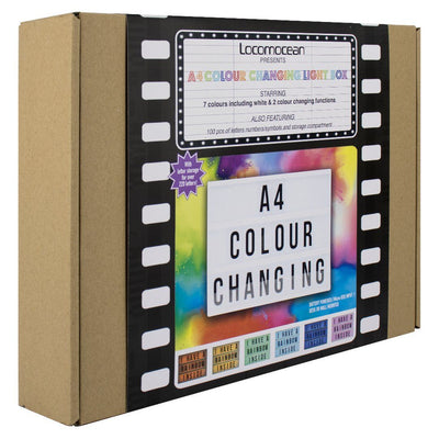 Personalised Cinematic Light Box in Multicolour (A4)