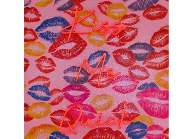 Wall Painting (LED Neon) - Kiss me Quick