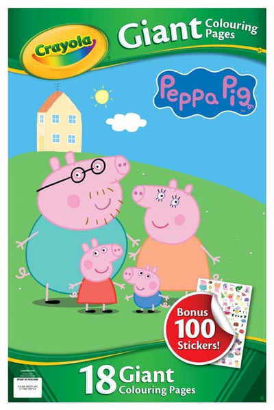 Peppa Pig Giant Colouring Pages With Stickers
