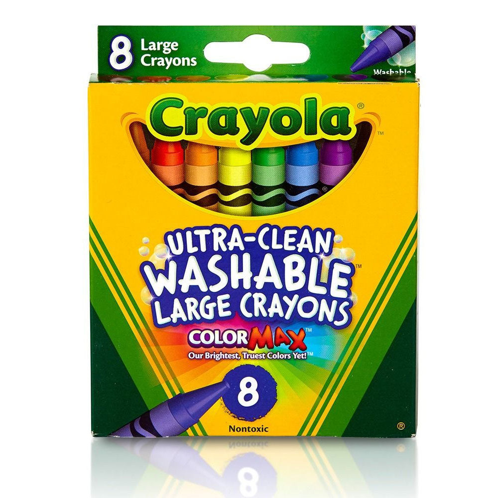 Crayola 8 Ultra Clean Large Crayons