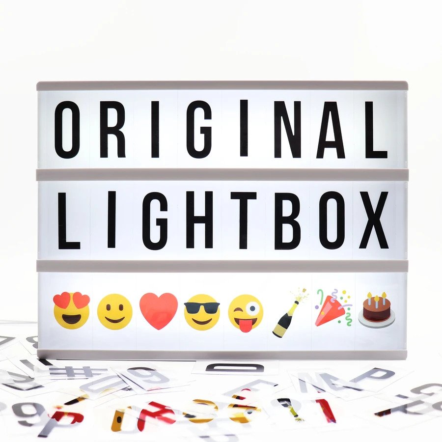 A4 Cinematic Lightbox - Black - 160 letters/emoji